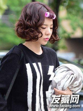 可爱俏皮的日韩短发发型 日韩流行短发烫发图片(4)