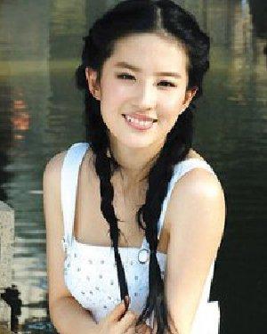 双马尾麻花辫棉布长裙 仙女系刘亦菲发型图片