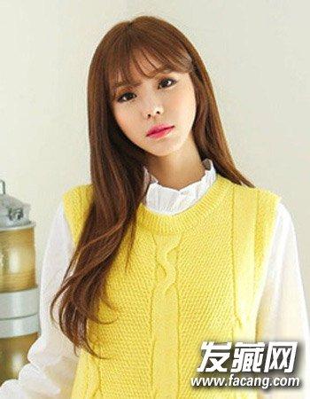 90后女生韩式发型设计 清纯可爱学院风 →少女可爱发型推荐 初秋