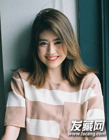 最新中长发发型图片 韩式时尚齐肩发型的设计(7)  导读:韩式中长碎发7