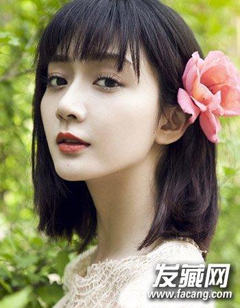 秋季照样做女神(8)  导读:小清新中短发8 很有波西米亚风格的一款中图片