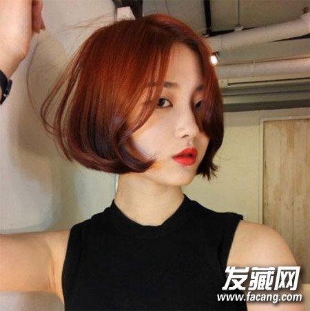 一款很妩媚的韩式短发发型