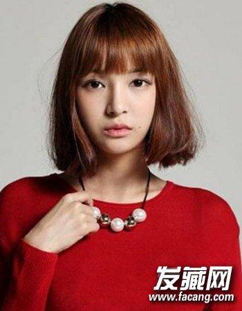 可爱短发蘑菇头发型 变美就该这样剪(8)