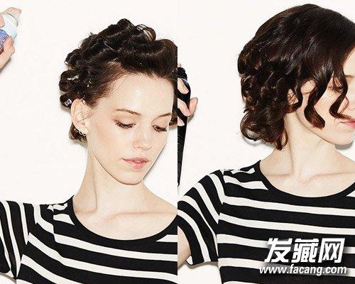 这个秋冬这样扎发型 长短发都很美 →长发变短发 5步diy超有气质图片