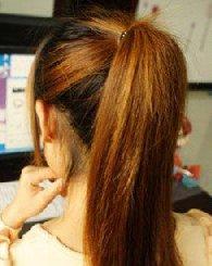 扎个丸子头美翻了 长发不必再剪
