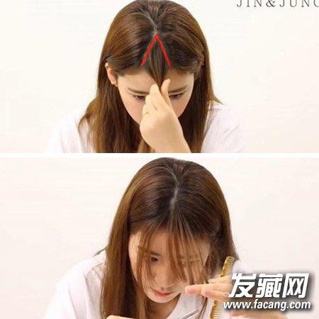 何苦羡慕她 angelababy同款空气刘海diy(4)图片