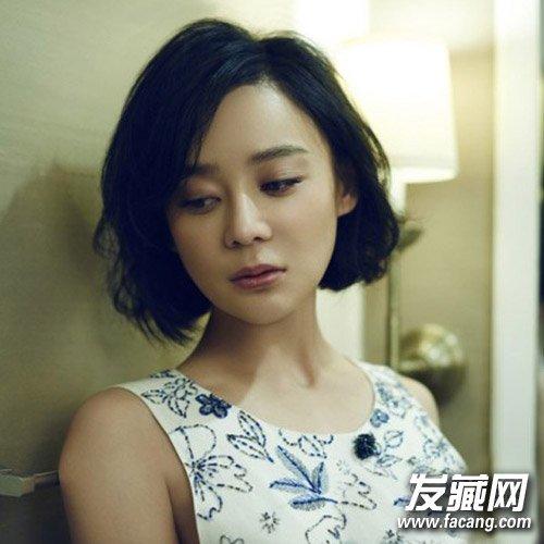 【图】刘诗诗郭采洁 气质女神短发发型优雅味道(2)