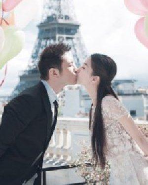 黄晓明angelababy婚纱照曝光 新娘发型解析