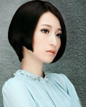 知性的短发波波头发型 圆脸、菱形脸妹子首选