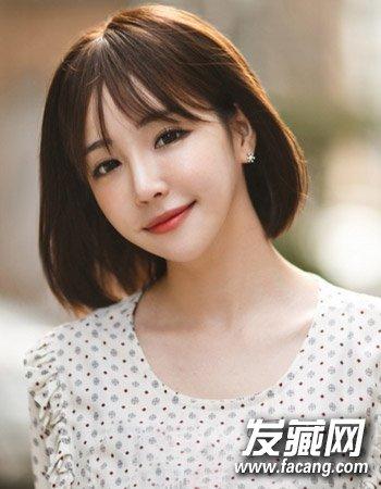 宋慧乔赵丽颖示范      知性的中短发波波头发型,柔顺的短 与内扣的图片