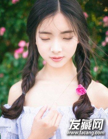 甜美 可爱发型美美迎新春 →时尚韩式中短卷发发型 空气刘海圆脸中