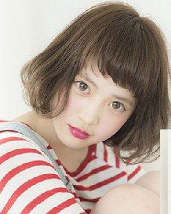 女生齐刘海发型图片 瘦脸修饰额头