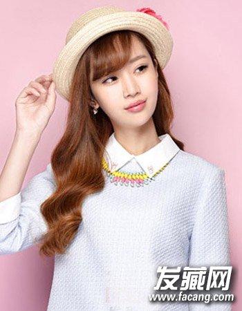 十足的甜美可爱萌妹范儿 换空气刘海留住少女心(9)