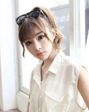 超可爱的双马尾发型 台湾萌妹完胜范爷