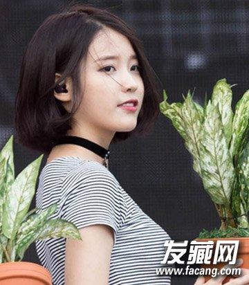 日系感中短直发发型 →今年很流行的短发 空气刘海波波头/蘑菇头图片