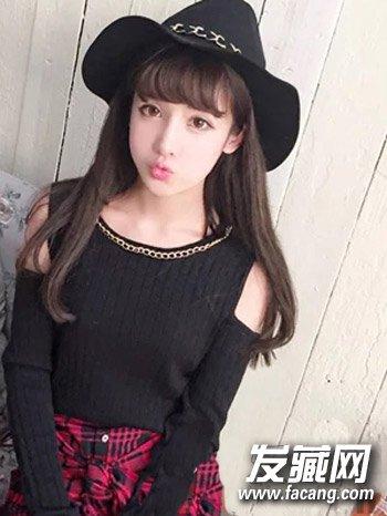 韩式秋季长发发型 半透明刘海清纯逆龄图片