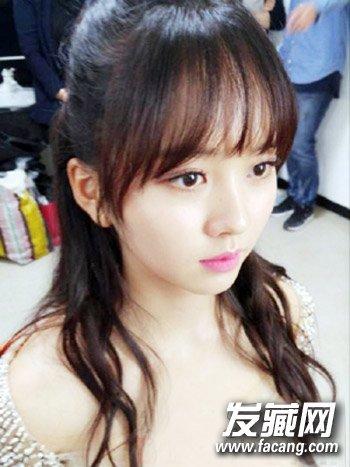 韩式秋季长发发型 半透明刘海清纯逆龄(5)