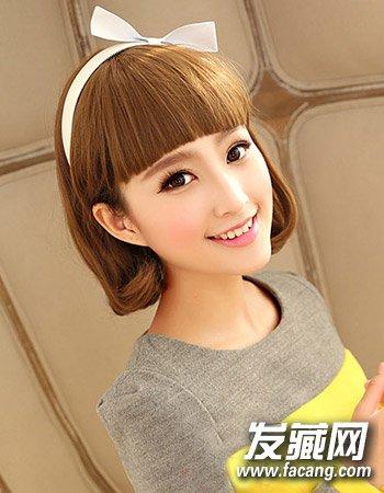 中短发的波波头设计(7)  导读:2015小清新发型7: 以甜美可爱风为主的