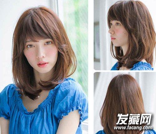 深棕色的长卷发型 →长卷发编发教程图解 编织长卷发公主头发型