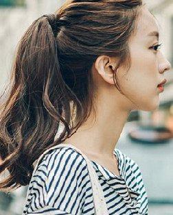 清新马尾辫发型 中长发扎出百变造型