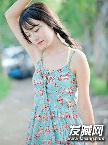 韩式双麻花辫发型 学生发型演绎最美校园风(9)图片
