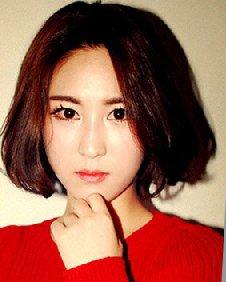 时尚中分内扣波波头 秋冬韩式波波头发型图片