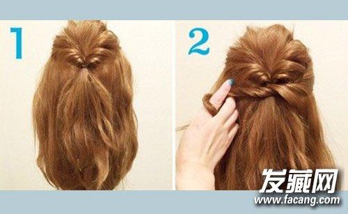 特色扎发教程图解  导读: 1,首先从头上选取两股头发,扭转,扎成马尾辫