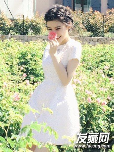 又一位女星结婚了!杨子珊长发造型很是乖巧可爱(8)