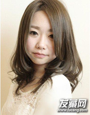 女生适合的甜美中长发发型图片图片