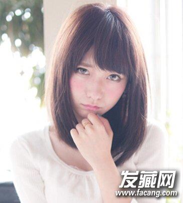 发型网 女生发型 女生发型与脸型 > 胖圆脸美眉适合的发型,五款中长发图片