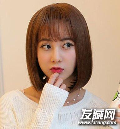 发型网 流行发型 bobo发型 > 韩式波波头甜美减龄,秋季短发就该这么剪