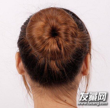 盘发器 发箍,直发丸子头扎法图解图片