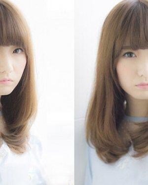圆脸女生适合什么发型 中分长刘海发型