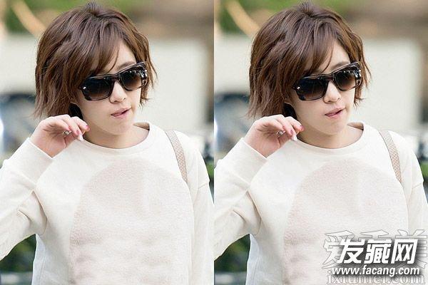 胖圆脸适合的短发发型 韩式中短发波波头发型图片