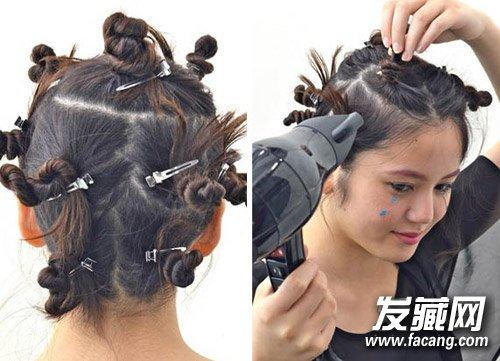 学姚晨diy万圣节发型 做个卷发小恶魔(6)