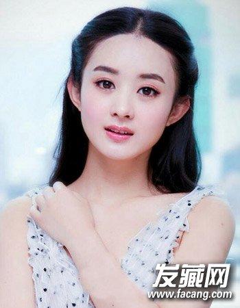 发型网 脸型发型 圆脸适合发型 > 圆脸适合中长发图片 圆脸中长发图(2