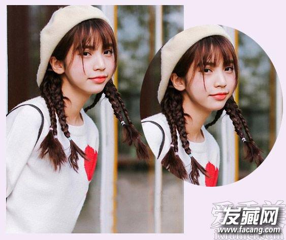 圆脸适合空气刘海吗 可爱的学生发型设计(3)