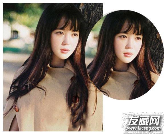 齐刘海卷发发型图片 时尚的齐肩卷发发型图片