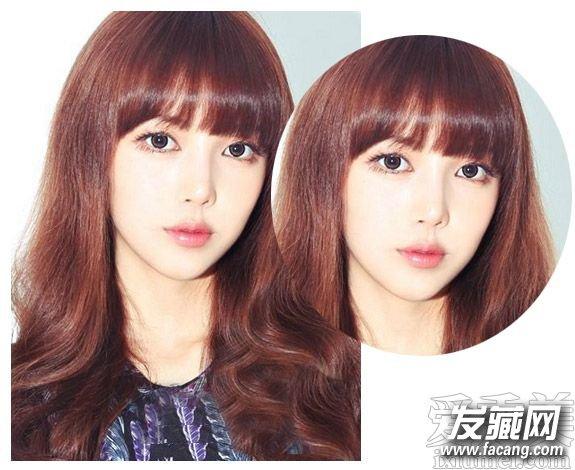 齐刘海卷发发型图片 时尚的齐肩卷发发型(4)图片