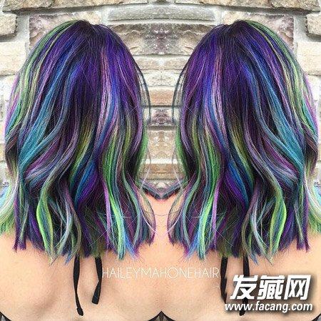 超梦幻染发发型图片 发色和银河系撞灵感