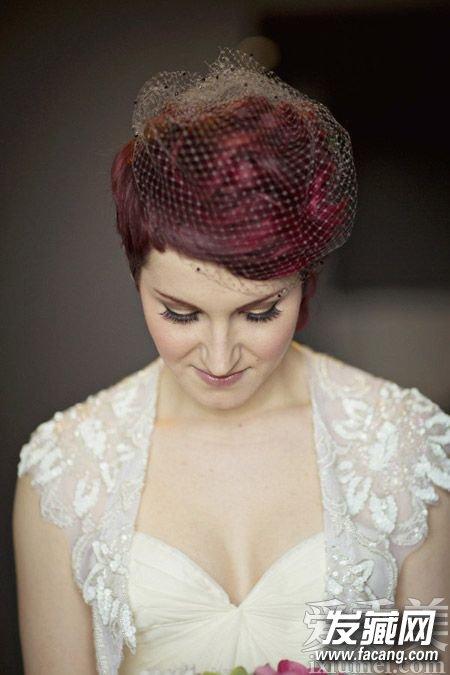 齐耳短发新娘发型图片展示图片