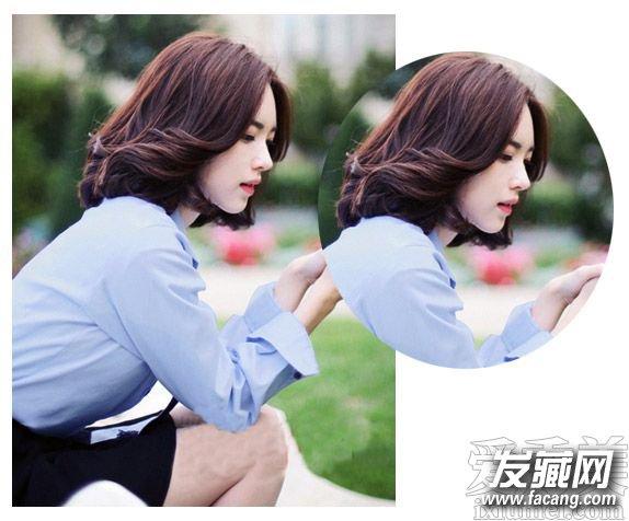 韩国网红尹善英示范 本季最流行中短发发型(3)图片