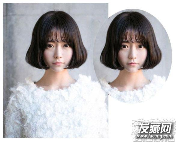 简单波波头发型五: 清新的空气感刘海造型设计可是最显女生的可爱灵