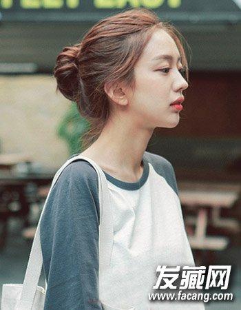 【图】学生丸子头发型图片