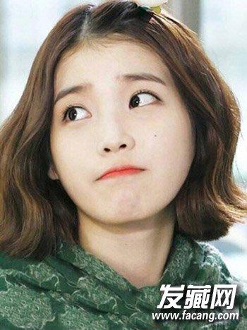 短发微卷才好看 最新韩式中短发发型图片(2)图片