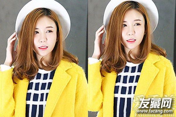 圆脸和大脸mm必备的一款韩式中分波浪卷发发型,长发烫出蓬松的外翻图片