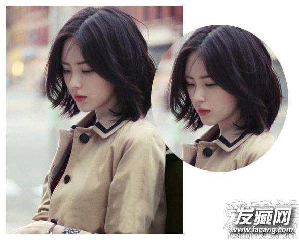 流行短发烫发发型图片 清新的中短发发型 2