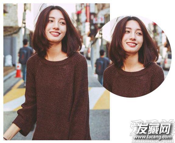 清爽的中短发直发发型图片 搭短发更显潮流范(3)