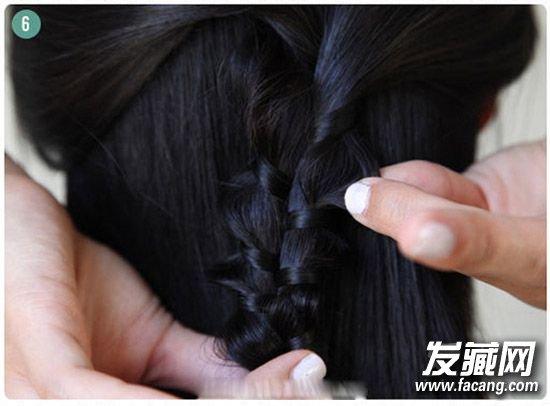 长发妹必学编辫子发型 三股辫编法图解(3)