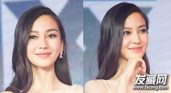 杨幂baby林志玲示范 最性感侧分中长发 最性感的发型